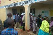 Bezoekers medisch centrum